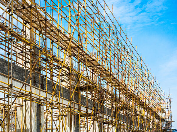 The Compenents Of The Exterior Scaffolding